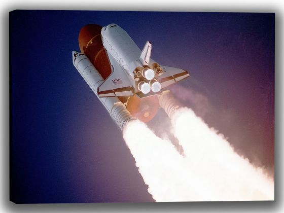 Space Shuttle Launch Canvas. Sizes: A4/A3/A2/A1 (4008)